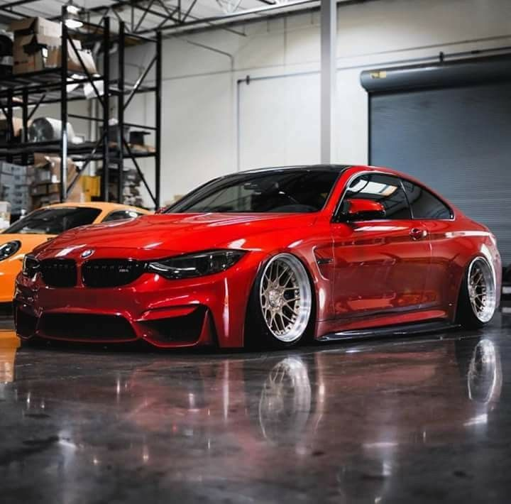 Bmw F82 M4 Red Slammed Bmw Bmw M4 Coupe Bmw M4