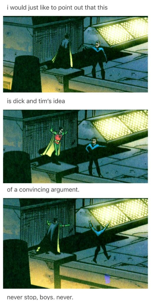 Tim and Dick's idea of a winning argument.
