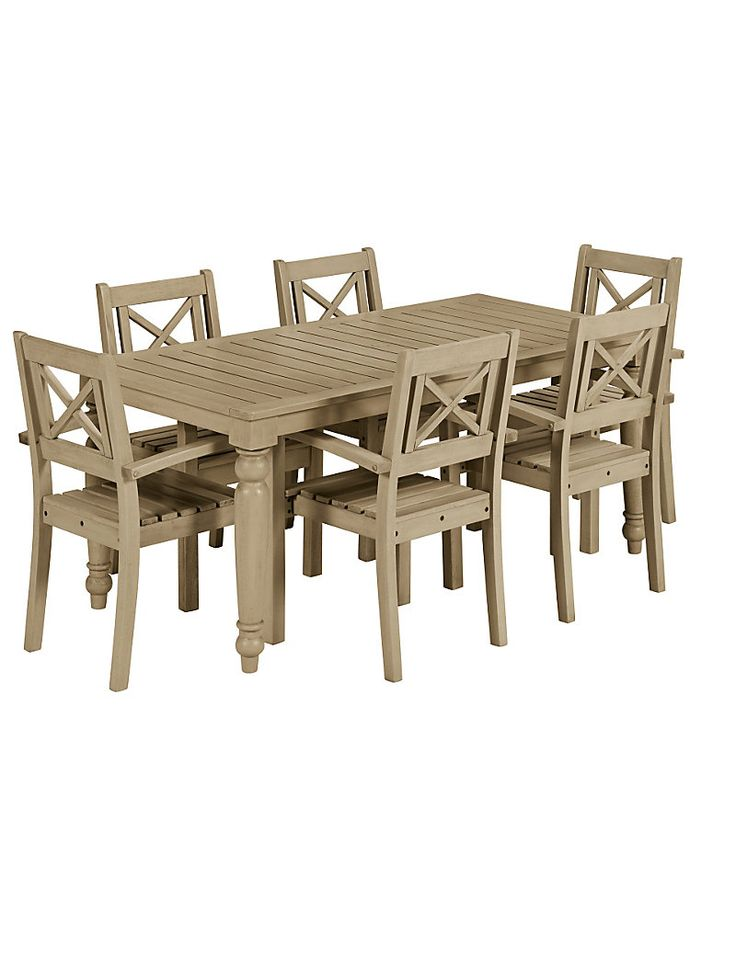 M S Grey Dahlia Dining Table 6 Chairs Furniture For The Garden I Love Whole Range And It Comes In White With Matching Bird House Etc