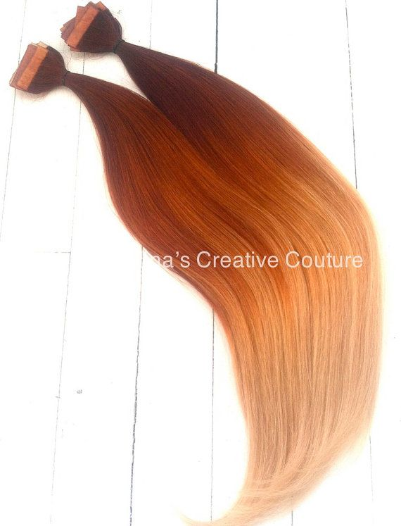 Tape Or Clip In Auburn Ombre Hair By Ninascreativecouture On Etsy