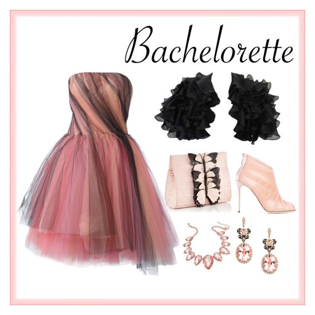 """""""Bachelorette"""" by misisspoly on Polyvore featuring moda, Victor Costa, Dolce&Gabbana, Oscar de la Renta, Thalia Sodi e Effy Jewelry"""