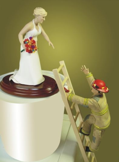 firefighter cake toppers for wedding cakes