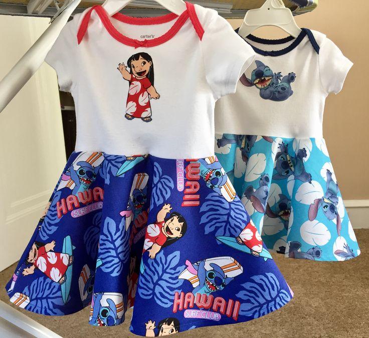 Twin Lilo & Stitch onesie dresses