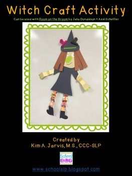 Witch Craft Activity that can go with ROOM ON THE BROOM by Julia Donaldson and Axel Scheffler