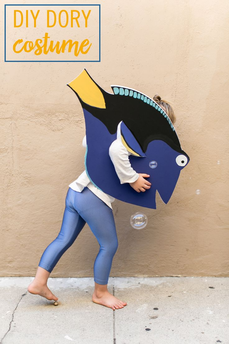 Most children find entertainment playing with a cardboard box, and hanging onto the good ones for rainy day activities is always a good idea. In anticipation of Finding Dory, bring out the yellow, blue, and white paints for a little underwater creativity. Let the kids dive in and create their own colorful fish costume. Click for the DIY Dory Costume tutorial.