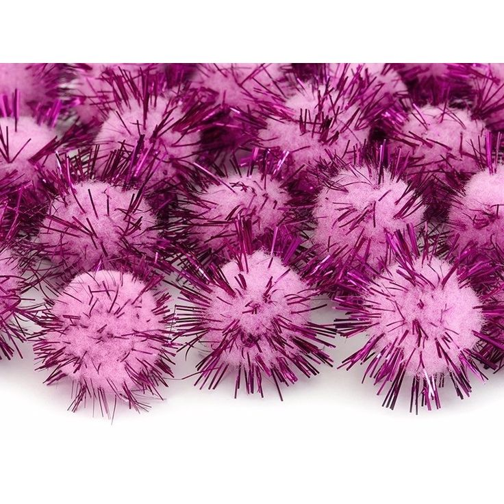 20 roze knutsel pompons 20 mm  20 roze knutsel pompons 20 mm. Pluche pompoms in roze kleur. De pompoms met roze glitterfolie hebben een diameter van ongeveer 20 mm. Verpakking: 1 pak bevat 20 stuks  EUR 1.25  Meer informatie