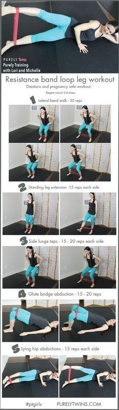 awesome The best resistance band leg workout (diastasis and pregnancy workout)