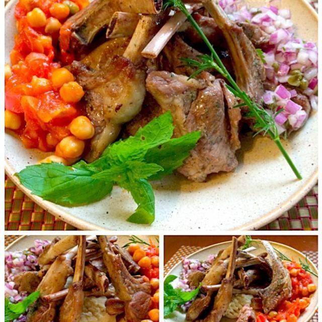 皆が大好きなラムチョップ 今宵はいつもより多く食べられるよぉ - 47件のもぐもぐ - kuzu pirzolaLamb Chop Steak w/Onion caper sauce✨クズ・ピルゾラ <ラムチョップステーキ オニオンケッパーソース> by Ami