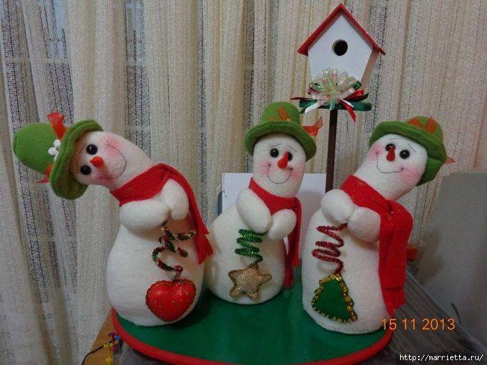 Cosa muñeco de nieve divertido.  Patrones (1) (700x525, 282KB)