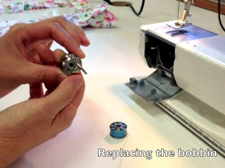 The threading and basic operation of Bernina 1008 sewing machine for secondary students.