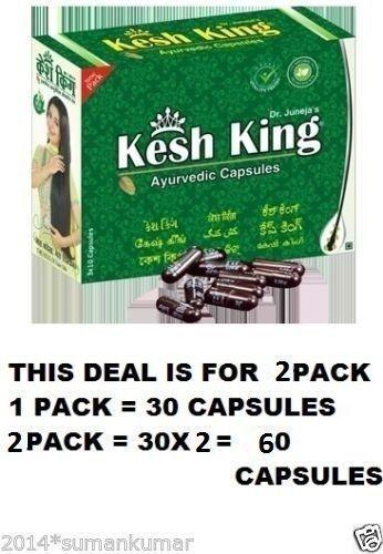 2X Kesh King Ayurvedic Capsules Prevent Hair Loss Premature Greying 30 Capsules