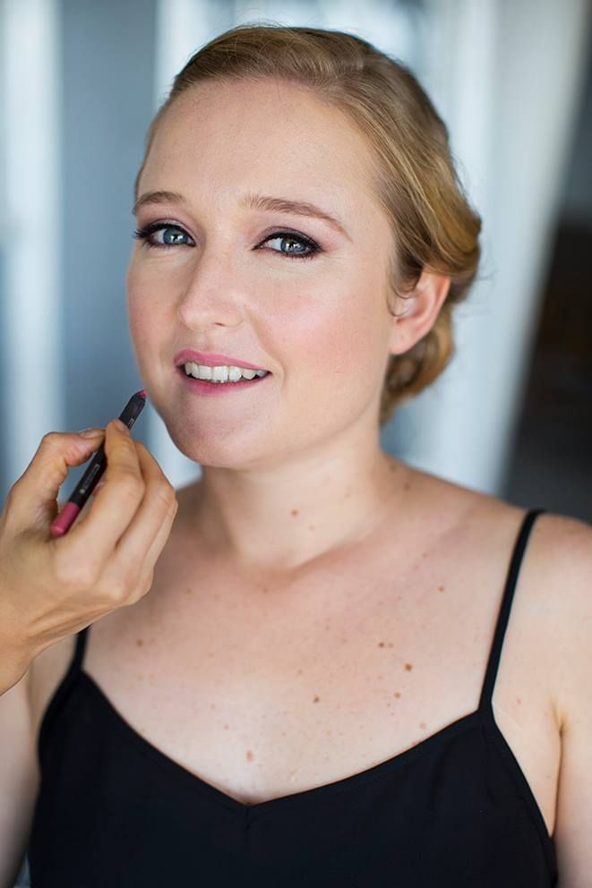 Bridal make up blue eyes and blond hair with fair skin