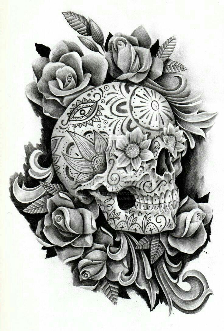 26 best sexy day of the dead skulls tattoo stencils images on pinterest day of the dead. Black Bedroom Furniture Sets. Home Design Ideas