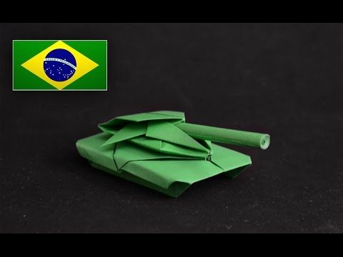 Origami: Tank / Tanque de Guerra - Instruções em Português PT BR - YouTube