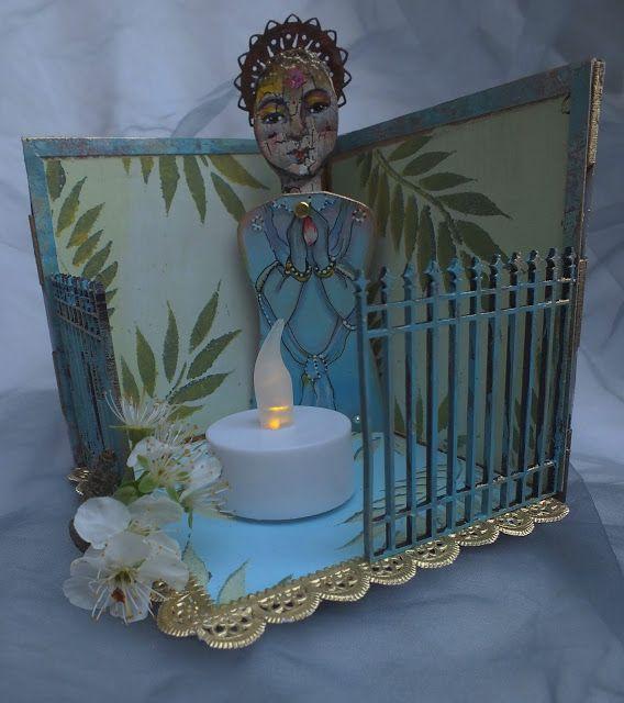 Calico Craft Parts: Namaste, tea-light shrine by Julie Ann