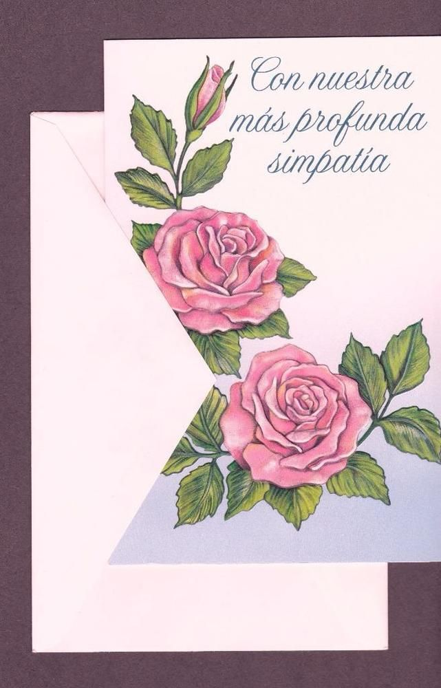Spanish Greeting Card, With Our Deepest Sympathy #SalamanderStudios #SympathyFuneral