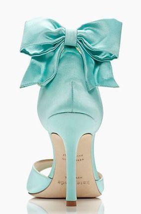 Aqua wedding shoes