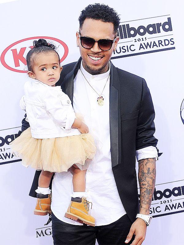 Billboard Music Awards 2015 Chris Brown daughter red carpet