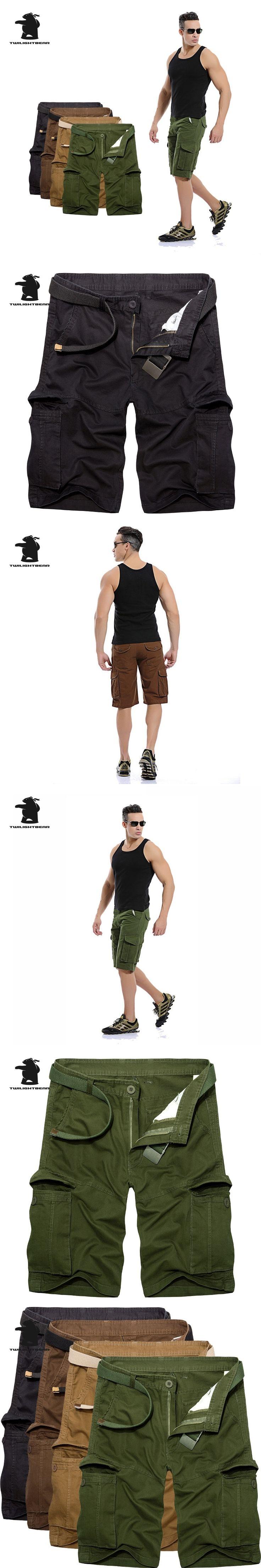 2017 New men's Cargo Shorts New Designer Fashion Multi-pocket Plus Size Cotton Casual Tooling Shorts Men 4 Colors CB7EK039