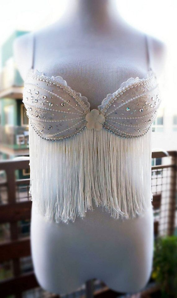 Hey, I found this really awesome Etsy listing at https://www.etsy.com/listing/259051266/white-fringe-goddess-costume-bra-dance