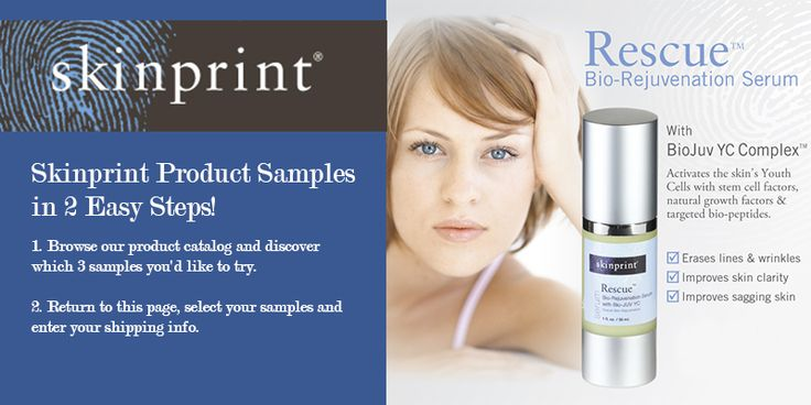 Get free Skinprint Product Samples! Follow the link, browse through Skinprint's catalog, return to the page, select your samples and enter your shipping info.