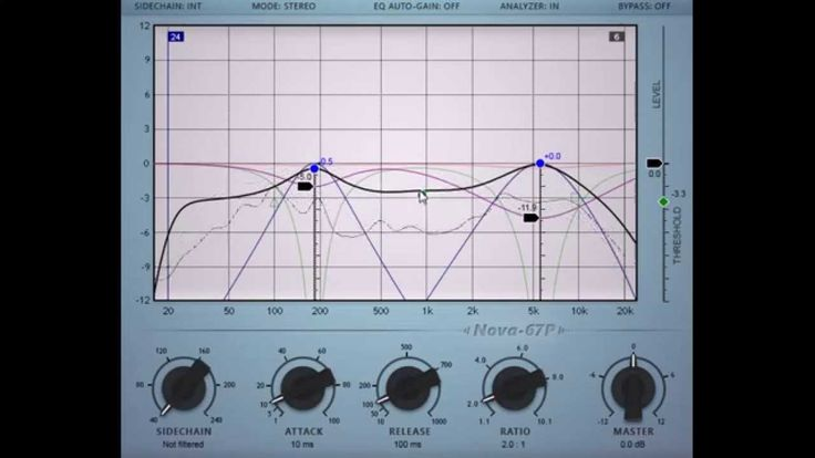 #Nova67P by vladg/sound #free russian masterpiece!!! Nova-67P is a #freeware #parallel #parametric #equalizer #effect #plugin combined with a #compressor. The compressor can optionally operate in frequency dependent and split-band modes. In this case the plugin operates as a parallel dynamic equalizer. (VST/AU - 32/64bit)