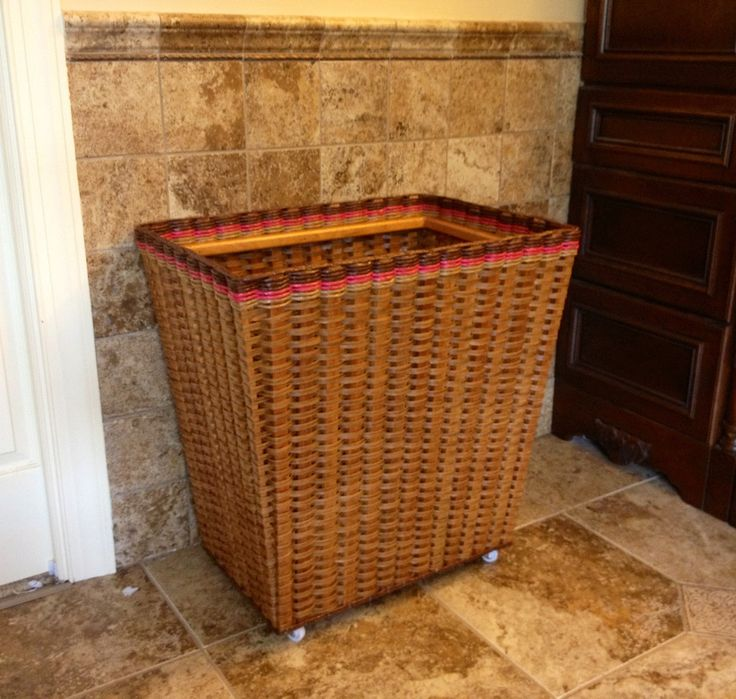 Large open clothes hamper basket on wheels. If you just need a basket you can through your dirty clothes then wheel it to the laundry room then this basket is for you! And if you are like me, you do not want to have to fiddle with a lid.