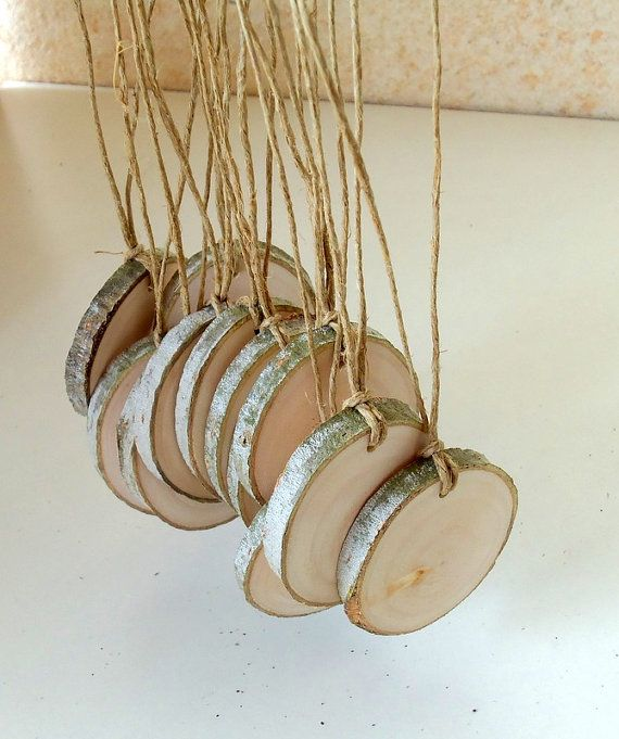 12 Blank White Tree Branch tags  Wood Slices  by forestinspiration, $9.00