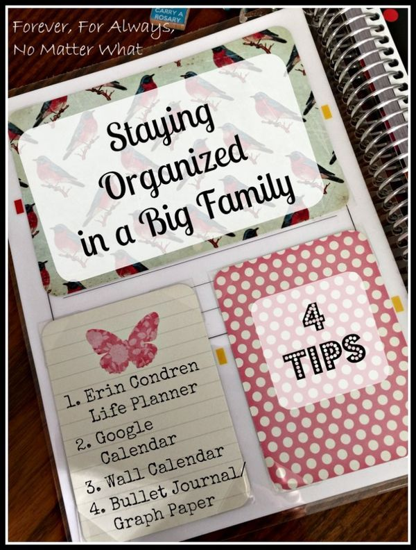 Staying Organized in a Big Family Large Family Organizing