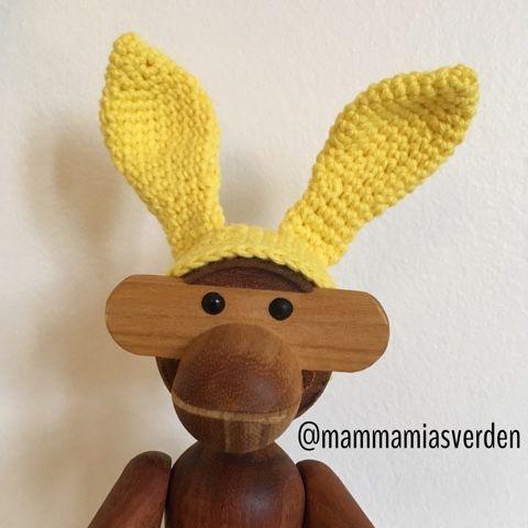 ❤ Mamma Mia's Verden: Opskrift på påskeharehat til Kay Bojesen aben