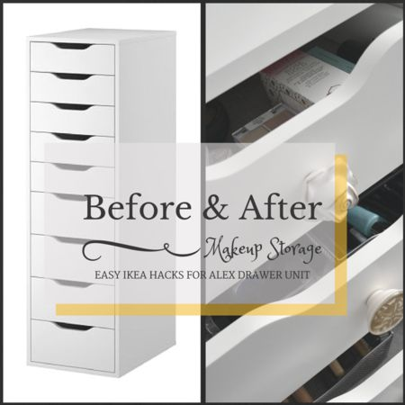 Ikea Alex Unit Hack #Organziedbeauty #Vanity #makeup #storage  – bellashoot.com