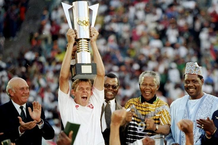 very proud moment when SA won the African nations cup in 1996