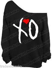 XO Off The Shoulder Slouchy Sweater Sweatshirt Off The Weeknd OVO XO Hip Hop Rap
