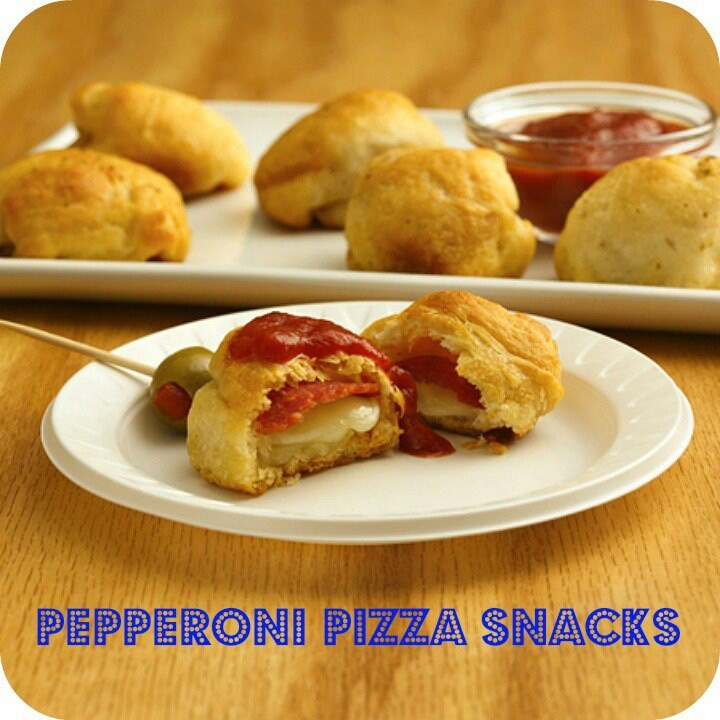 Pepperoni pizza snacks