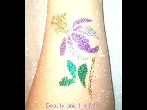▶ Glitter Tattoo Tutorial with equipment from Bornprettystore.com - YouTube