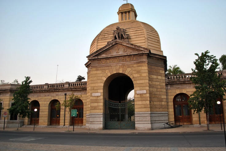 Santiago: the entrance to the General Cementary, where you'll find the graves of chilean presidents and artists.