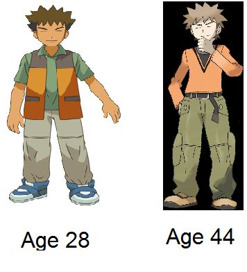 Brock is OLD but awsome he is 45