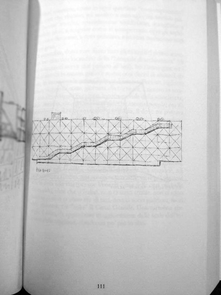 """31/01/1977 inaugurazione Beaubourg, Centro Georges Pompidou - 40 anni di Renzo Piano """"I giovani devono viaggiare, perché viaggiando si può capire gli altri. Viaggiando si può capire che le differenze sono un valore e non un problema."""" #larchitettononserve #architecture #sketch #travel #paris #renzopiano #beaubourg #centregeorgespompidou"""