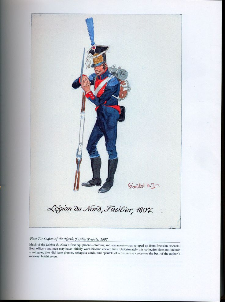 Foreign Troops: Plate 72: Legion of the North, Fusilier Private, 1807.