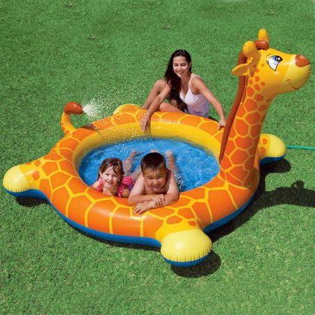 Бассейн надувной Intex Жираф