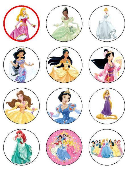 Desney Princess Cupcake Toppers Free Printable �1.00 gbp