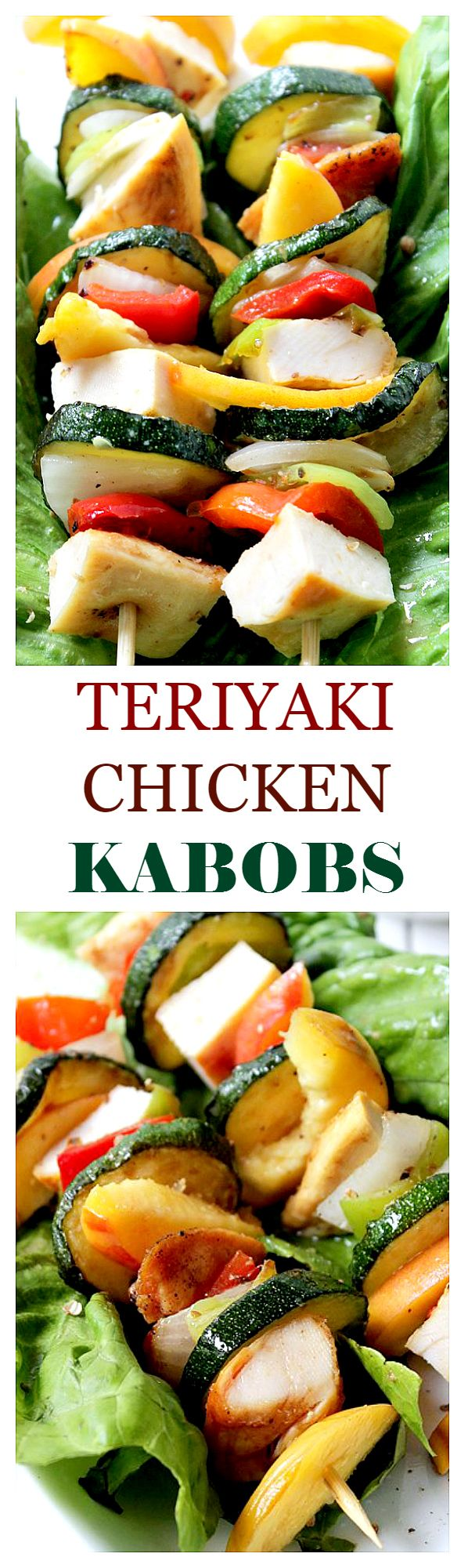 Teriyaki Chicken Kabobs - My family absolutely loved this recipe. My husband said it was the best chicken marinade he has ever had. It is light, tasty and delicious! Get the recipe on diethood.com