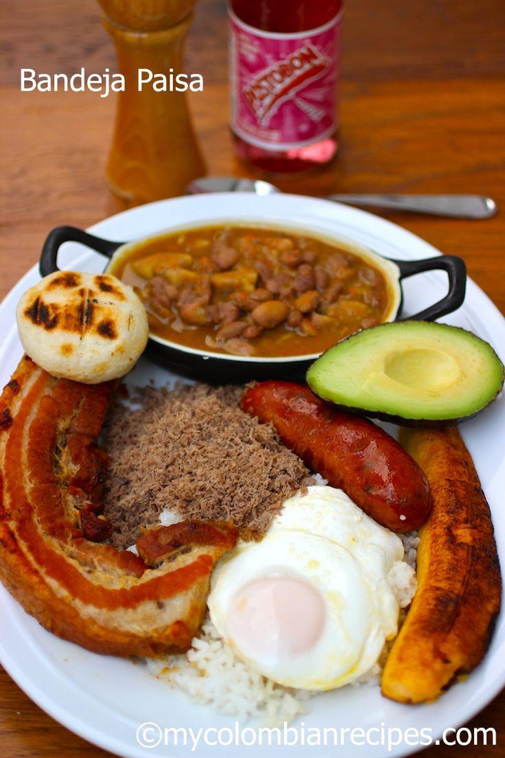 Bandeja Paisa (Paisa Platter) |mycolombianrecipes.com