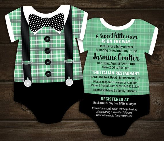226 best baby shower invitations images on pinterest bow tie baby shower invitations mint plaid by littlebeesgraphics stopboris Images