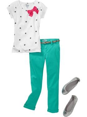 Cute outfit for a little girl from @Old Navy. Love the bow! http://oldnavy.gap.com/browse/outfit.do?cid=80355=OUT07500