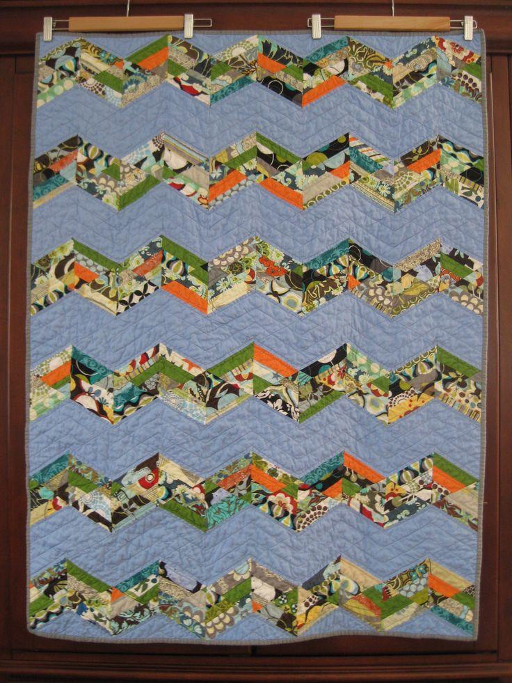 Hello Zig Zag Quilt Pattern : 145 best Zig Zag, Chevron, or Herringbone Quilt images on Pinterest Quilting ideas, Patchwork ...