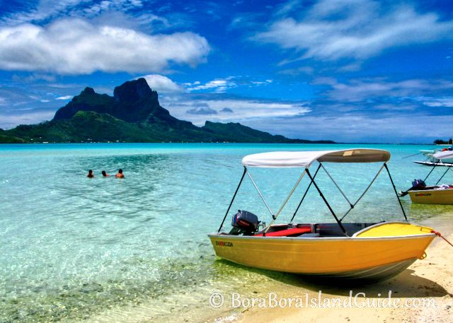 Here are the Bora Bora boat excursions that take you to beautiful coral gardens and some of the best Bora Bora beaches which are only accessible by a Bora Bora boat tour.