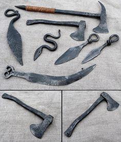 Hand-made sharp-edge weapons