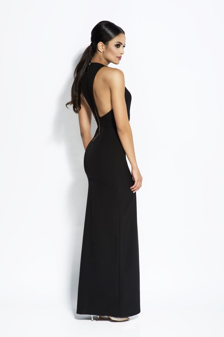 Wyjątkowa i Elegancka Sukienka Czarna  Elegant Dress Black http://besima.pl