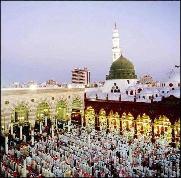 An old picture of the inner court yard of masjid al nabavi #Medina صورة قديمة للمسجد النبوي الشريف صلى الله على محمد وال محمد